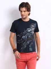 Myntra Men Navy Krrish 3 Printed T-shirt