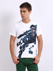 Myntra Men White Krrish 3 Print T-shirt