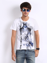 Myntra Men White Krrish 3 The Hero Within Print T-shirt