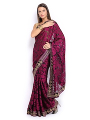 Mysilk Magenta Brasso Fashion Saree