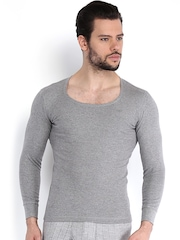 NEVA Men Grey Melange Thermal T-shirt
