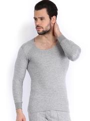 NEVA Men Grey Melange Thermal T-shirt