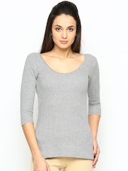 NEVA Women Grey Thermal Top OMS11G