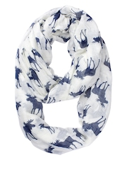 NOISE Women White Printed Infinity Scarf