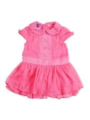 Nauti Nati Pink Girls Printed Fit & Flare Dress