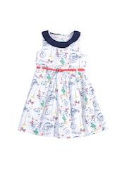 Nauti Nati Girl Multi-coloured Fit & Flare Dress