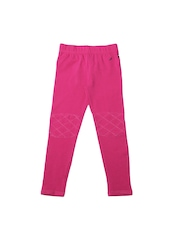 Nautica Girls Pink Cotton Stretch Leggings