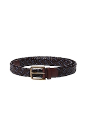 Nautica Unisex Brown & Blue Leather Belt