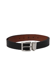 Nautica Men Black & Brown Reversible Belt