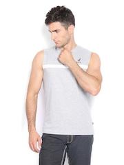 Nautica Men Grey Melange T-shirt