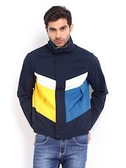 Nautica Men Blue & Yellow  Jacket