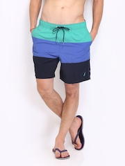 Nautica Teal Blue & Black Swimming Shorts