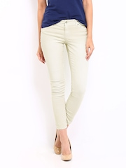 Nautica Women Beige Ankle Length Skinny Fit Jeans
