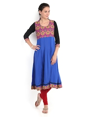 Women Blue Anarkali Kurta Neels
