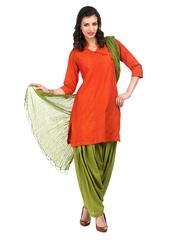 Neels Women Green Patiala & Dupatta Set