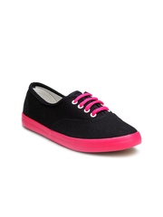 Nell Women Black & Pink Casual Shoes
