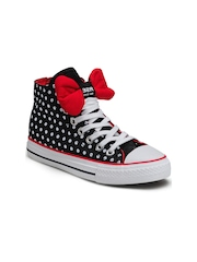 Nell Women Black Polka Dot Printed Casual Shoes