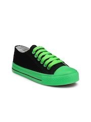 Nell Women Black & Green Casual Shoes