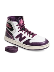 New Balance P485PW Men Wide Large Purple & White Casual Shoes