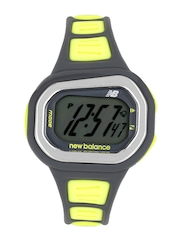 New Balance Women Grey & Yellow Digital Watch