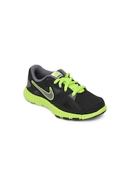 Nike Black Flex Supreme Tr 2 (gs/ps)  Young Athletes  Sports Shoes