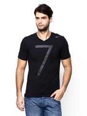 Nike Men Black AS CR7 Football Soccer T-shirt