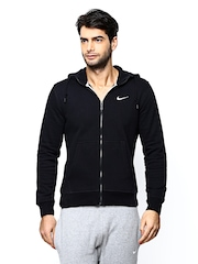Nike Men Black AS Club FZ Hooded Sweatshirt