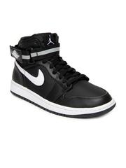 Nike Men Black Air Jordan 1 High Strap Basketball Shoes
