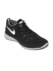 Nike Men Black Flyknit Lunar 2 Running Shoes