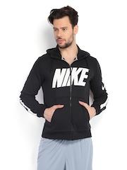 Nike Men Black Hooded Jacket