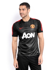 Nike Men Black Manchester United Jersey