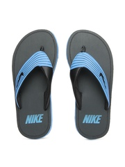 Nike Men Blue & Black Chroma Thong III Flip-Flops