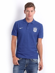 Nike Men Blue CBF Brazil Polo Jersey