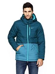 Nike Men Blue Padded AS EM NIKE ALLIANCE Jacket
