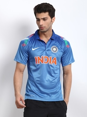 Nike Men Blue Authentic Indian Cricket Team Jersey