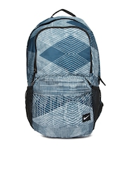 Nike Men Blue Printed Backpack