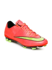 Nike Men Coral Pink Mercurial Veloce II FG Sports Shoes