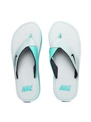 Nike Men Grey & Blue Chroma Thong III Flip-Flops