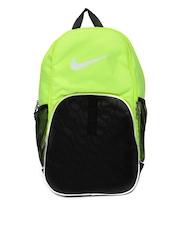 Nike Men Fluorescent Green & Black Brasilia XL Backpack