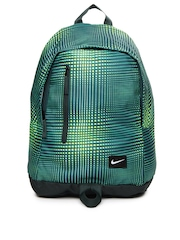 Nike Men Green All Access Halfday Printed Backpack