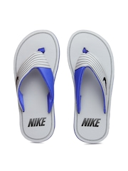 Nike Men Grey & Blue Chroma Thong III Flip-Flops