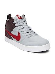 Nike Men Grey & Burgundy Liteforce III Mid Casual Shoes