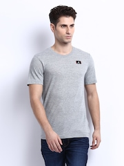 Nike Men Grey Melange T-shirt