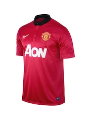 Nike Men Red Manchester United Jersey
