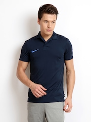 Nike Men Navy Cricket Polo T-Shirt