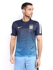 Nike Men Navy MCFC Striped Jersey