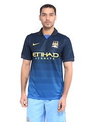 Nike Men Navy Manchester City Away Jersey