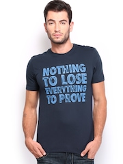 Nike Men Navy Printed AS EM India Verbiage T-shirt