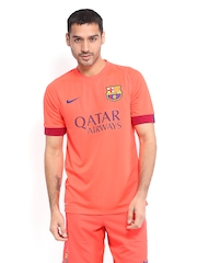 Nike Men Neon Orange FCB Away Jersey