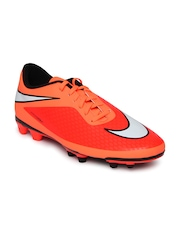 Nike Men Neon Orange Hypervenom Phade FG Football Shoes
